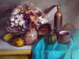 Still life by Laila Hercberga in Jelgava Holy Trinity Church Tower