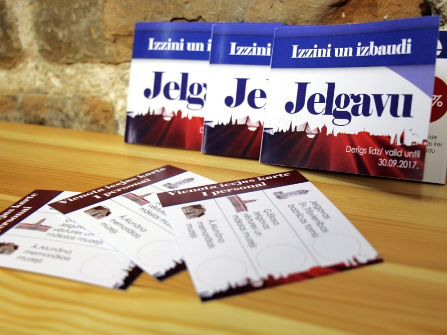 Summer novelty offer for travellers around Jelgava – a single entrance card and coupon booklet